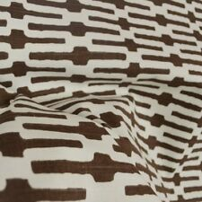 Annie Selke Geometric Print Upholstery Fabric- Links / Chocolate BY THE YARD BTY