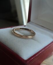 UNUSUAL 9ct Rose Gold Wedding Band Ring h/m 1945 with Utility Mark - size M