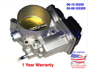 NEW THROTTLE BODY ASSY WITH MOTOR for Lexus 06-15 IS250 2.5L 05-06 GS300 3.0L