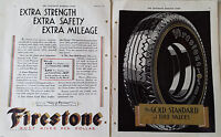 1932 FIRESTONE Tires Gold Standard of Value Two Page Color Original Ad