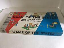 Vintage 1954 Game Of The States Milton Bradley Complete Before Alaska Hawaii