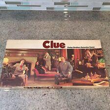 VTG  Clue Detective Board Game 1972 Complete USA Parker Brothers General Mills