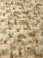 "Before the Frost FLYING GEESE quilters cotton Fabric per yd sew craft 44""wide"