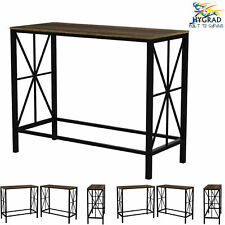 Vintage Industrial Rustic Metal/Wood Console Table Hallway Entrance Furniture
