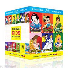 Disney - 11 Classic Film Blu Ray & DVD Box set 22 Discs (NEW) Limited Quantity