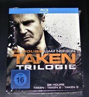 96 Heures Taken Trilogie Avec Liam Neeson blu ray Expédition Rapide Neuf & Ovp
