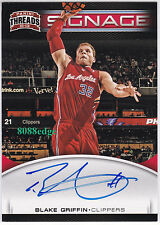 2012-13 PANINI THREADS SIGNAGE AUTO: BLAKE GRIFFIN #8 ON CARD AUTOGRAPH CLIPPERS