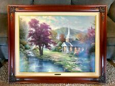 Thomas Kinkade Streams of Living Water Framed Canvas 25-1/2 x 34 A/P 195 of 590