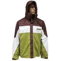 Rip Curl Bada Bing Jacket Mens L Large Green Brown Ski Snow Board Mountainwear