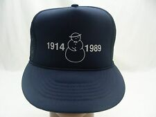 SNOWMAN LOGO - 1914 1989 - TRUCKER STYLE ADJUSTABLE SNAPBACK BALL CAP HAT!