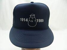 SNOWMAN LOGO - 1914 1989 - TRUCKER STYLE ADJUSTABLE SNAPBACK BALL CAP HAT!