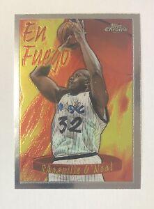 Shaquille O'Neal 1996-97 Topps Chrome En Fuego Season's Best 3 Card
