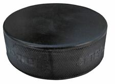 A&R ICE HOCKEY PUCK- BLACK PRACTICE- HARD VULCANIZED RUBBER- OFFICIAL 6OZ PUCK