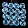 VVS Natural Blue Topaz 16 Pcs AAA Quality 10mm Calibrated Round Cut Drilled Gems