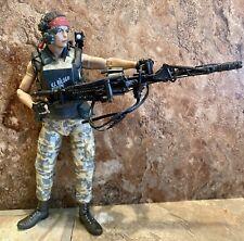 """NECA ALIENS PRIVATE JENETTE VASQUEZ 7"""" ACTION FIGURE Machine gun USED U.S Seller"""