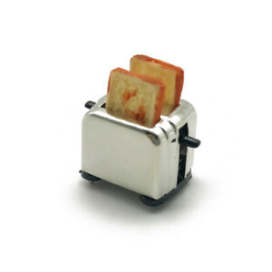 Dollhouse Miniature Bread Maker with Toasts 1:12 Kitchen Toaster Accessories