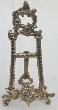 Decorative brass picture easel