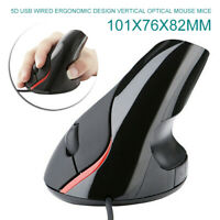 USB Wired Vertical Mouse Optical Game Ergonomic Mice High Precision for PC Mac