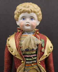 OUTSTANDING LARGE  GERMAN  ANTIQUE MALE  CHINA  DOLL by  'KLING'