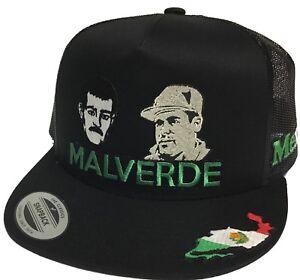 MALVERDE Y EL CHAPO GUZMAN 3 LOGOS MEXICO HAT COLOR BLACK MESH SNAPBACK