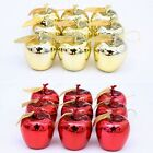 12 x Deko Äpfel gold Apfel Weihnachten Weihnachtsbaumschmuck Weihnachtsbaum Neu