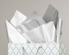 "100 Pack - Metallic Silver Tissue Paper - 20"" x 30"" - Jumbo Gift Wrap Paper Bulk"
