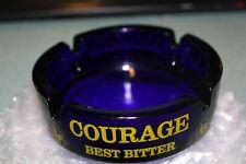 Vintage Courage Best Bitter Cobalt Blue Ashtray