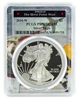 2010 W Silver Eagle Proof  PCGS PR70 DCAM  - West Point Frame