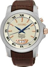 Seiko SNQ150 SNQ150P1 Premier Mens Perpetual Calendar Watch Leather RRP $599.00