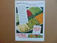 1946 DEL MONTE VEGETABLES FLAVOR FIRST Vegetable Salads vintage art print ad