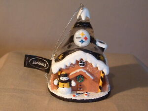 PIITSBURG STEELERS, CHRISTMAS ORNAMENT, FOREVER COLLECTIBLES, NWT, LIGHTS UP,NFL