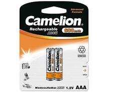 2 x Camelion AAA Micro HR03 600 mAh Telefon NiMH Akkus Accus 1,2 V