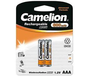 2x Camelion AAA Micro Telefon Akkus Accus 600mAh für Telekom Sinus 700 700i 900