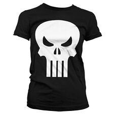 Officially Licensed Marvel Comics- The Punisher Skull Women T-Shirt S-XXL Sizes