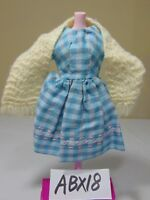 VINTAGE BARBIE SIZE OOAK DOLL CLOTHES OUTFIT HIPPIE BLUE-GRAY-PINK DRESS & SHAW