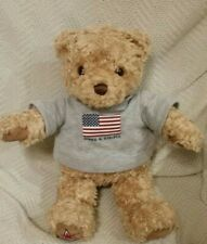 """GUND Plush Brown Bear 2000 May Dept Special Edition Stars and Stripes Shirt 14"""""""