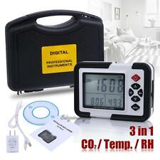 3 in 1 USB LCD CO2 Carbon Dioxide Data Logger Temperature Humidity Meter Monitor