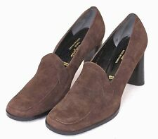 Robert Clergerie Paris Women's 9.5 Brown Suede Leather High Heel
