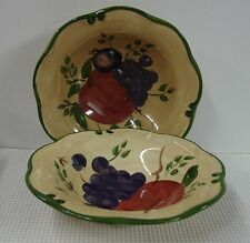 Home Trends GRANADA Rim Soup Bowls SOLD IN PAIRS Multiple Available BEST!