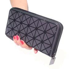 Newest Women Long Clutch Designer Luminous Wallet Geometric Lattice Standard Zip