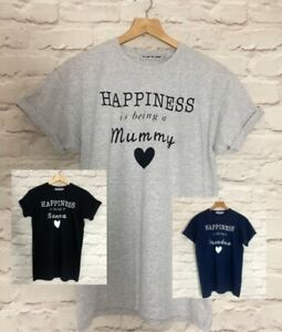 """VIOLET WOLVES """"HAPPINESS IN BEING A"""" NANNA MUMMY GRANDMA GIFT SLOGAN T-SHIRT"""