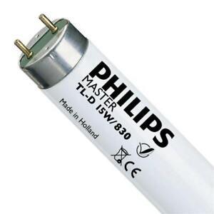 15w PHILIPS T8 Fluorescent Tube 450mm (18 Inch) 830 Warm White 3000k MASTER TL-D
