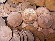 Lot Of Five Irish Vintage One Penny Coins - Hen And Chickens - Ireland - Lucky