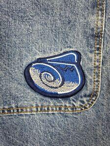 JNCO NWT Size 34x32 Baggy Wide Leg Men's Blue Jeans Vtg 90s Rave EDC Skater Punk