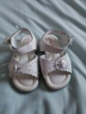 Stride Rite Toddler Girl White Leather Sandal Size 6.5 Wide