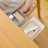 Table Storage Box Pencil Tray Self Stick Under Desk Holder Drawer Organizer Cool