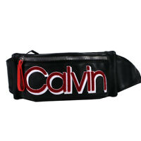 Calvin Klein Celia Vegan Leather Water Resistent Belt Bag Fanny Pack Black Combo