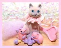 ❤️Vtg Li'l Lil Litters My Little Kitty Pony MLP DREAMY SIAMESE Cat Mommy Baby❤️