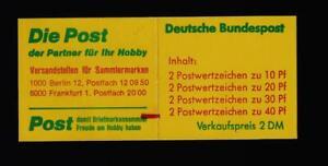 BUND - Markenheftchen , Booklet , Michel:  20 b mZ Zählbalken Unfallverhütung