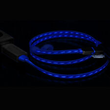 3Ft Apple iPhone Android Micro USB 2-in-1 Charger Cable w/ Flowing Light-Up LED